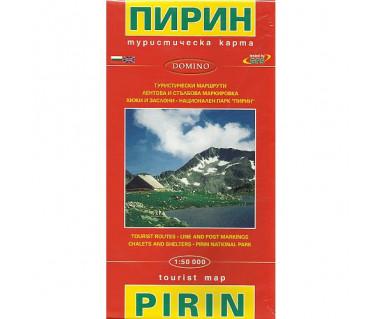 Piryn mapa turystyczna