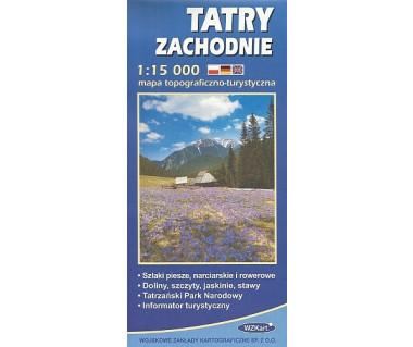 Tatry zachodnie - Mapa