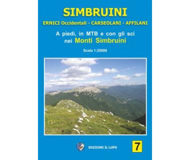 Simbruini - Mapa