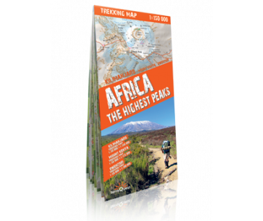 Africa the Highest Peaks mapa laminowana