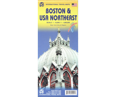 Boston & USA Norteast - Mapa wodoodporna