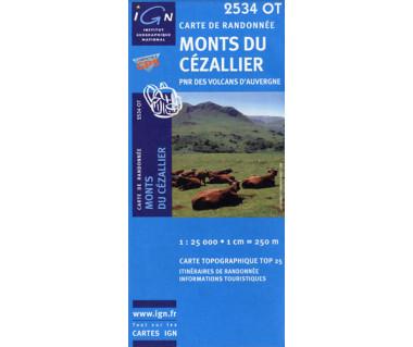 IGN 2534OT Monts du Cezallier