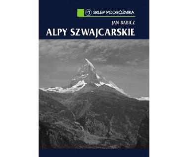 Alpy Szwajcarskie dodruk czarno-biały