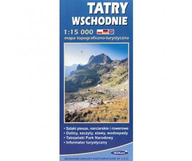 Tatry wschodnie - Mapa