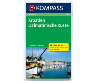K 2900 Kroatien Dalmatinische Kuste (kpl. 3 map)