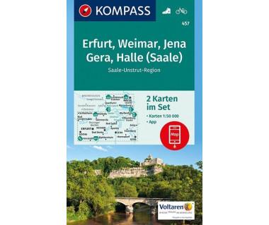 K 457 Gotha, Erfurt, Weimar, Thuringer Becken, Saale Unstrut Triasland