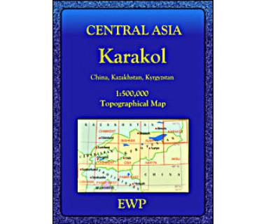 Central Asia Karakol - Mapa
