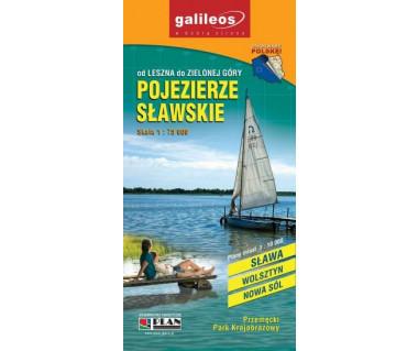 Pojezierze Sławskie - Mapa