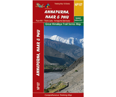 Annapurna, Naar & Phu (NP107) - Mapa