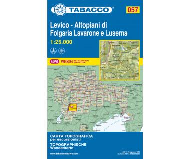 Levico - Altopiani di Folgaria - Mapa turystyczna