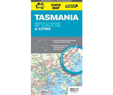 Tasmania State & Cities - Mapa
