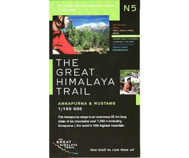Annapurna & Mustang (The Great Himalaya Trail) - Mapa