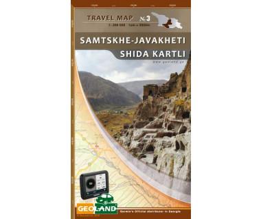 Georgia travel map (3) Samtskhe-Javakheti Shida Kartli