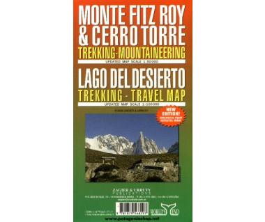 Monte Fitz Roy & Cerro Torre, Lago del Desierto - Mapa