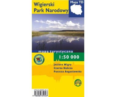 Wigierski Park Narodowy mapa laminowana