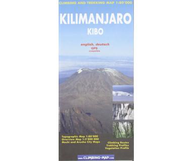 Kilimanjaro, Kibo - Mapa