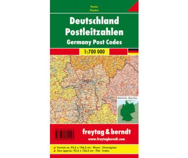 Niemcy mapa kodów pocztowych