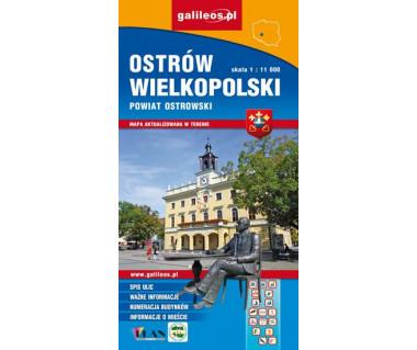 Ostrów Wielkopolski, Powiat ostrowski mapa dla aktywnych