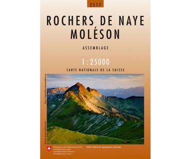 Rochers de Naye, Moleson - Mapa turystyczna