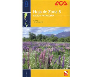 Hoja de Zona 8 - Region Patagonia. Chubut, Santa Cruz (norte)