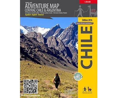 Central Chile & Argentina Adventrue map