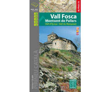 Vall Fosca - Monstsent de Pallars - Vall d'Assua - Mapa