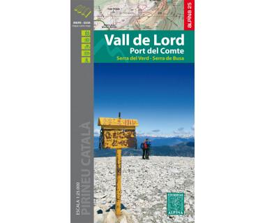 Vall de Lord - Port del Comte - Mapa