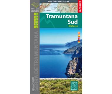 Mallorca -Tramuntana Sud GR11 map&hiking guide - Mapa