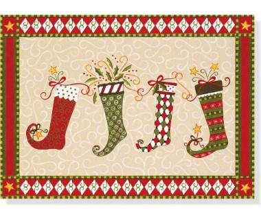 Kartka świąteczna Dancing Stockings