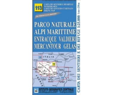 IGC 113 Parco Nat. Alpi Marittime - Mapa turystyczna