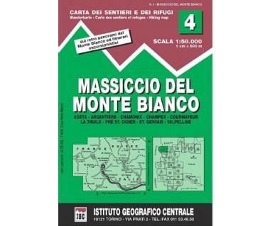 IGC50 04 Massiccio del Monte Bianco - Mapa turystyczna