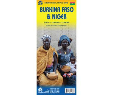 Burkina Faso & Niger - Mapa