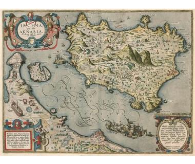 Reprodukcja mapy: Isle of Ischia, Italy