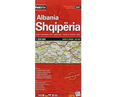 Albania/Shqiperia - Mapa