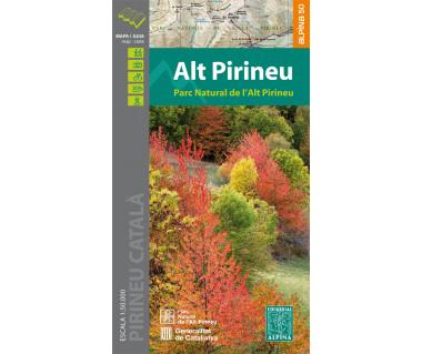 Parc Natural de l'Alt Pirineu - Mapa turystyczna