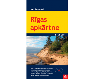 Rigas apkartne (okolice Rygi) - Mapa