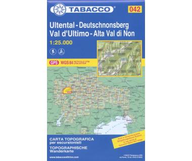 Val D'Ultimo/Ultental - Mapa turystyczna
