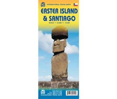 Easter Island & Santiago - Mapa