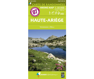Pyrenees (7) Haute-Ariege - Mapa