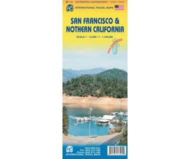San Francisco & Northern California - Mapa wodoodporna