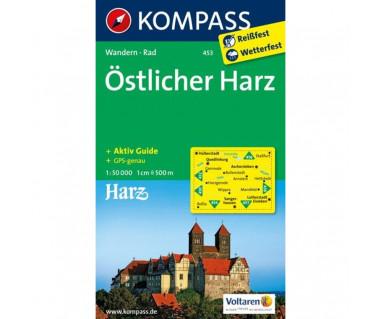 Ostlicher Harz - Mapa laminowana