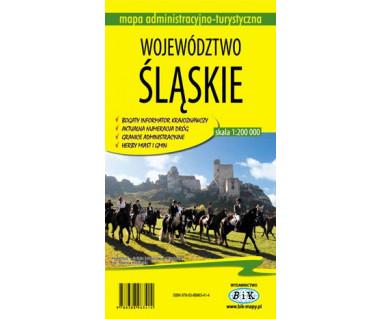 Województwo śląskie mapa administracyjno - turystyczna