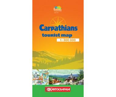 Karpaty mapa turystyczna (wersja ang.)