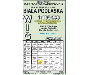 WIG 40/36 Biała Podlaska (plansza) reedycja z 1931 r.