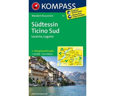 Sudtessin/Ticino Sud (folia) - Mapa turystyczna