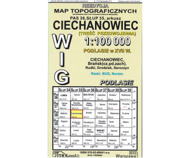 WIG 38/35 Ciechanowiec (plansza) reedycja z 1937 r.