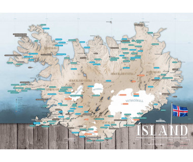 Turystyczna mapa Islandii