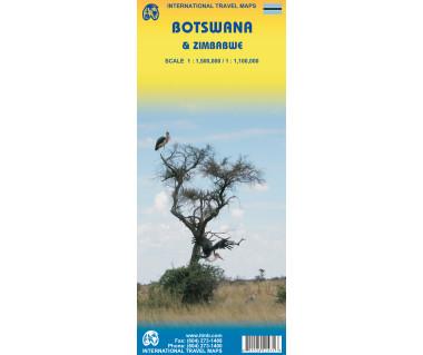 Botswana & Zimbabwe - Mapa