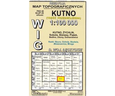 WIG 40/29 Kutno (plansza) reedycja z 1938 r.