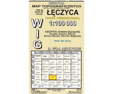 WIG 40/28 Łęczyca (plansza) reedycja z 1937 r.